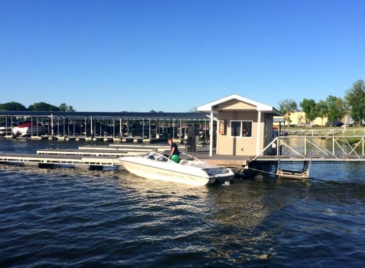Boating on Morse Lake, Indiana