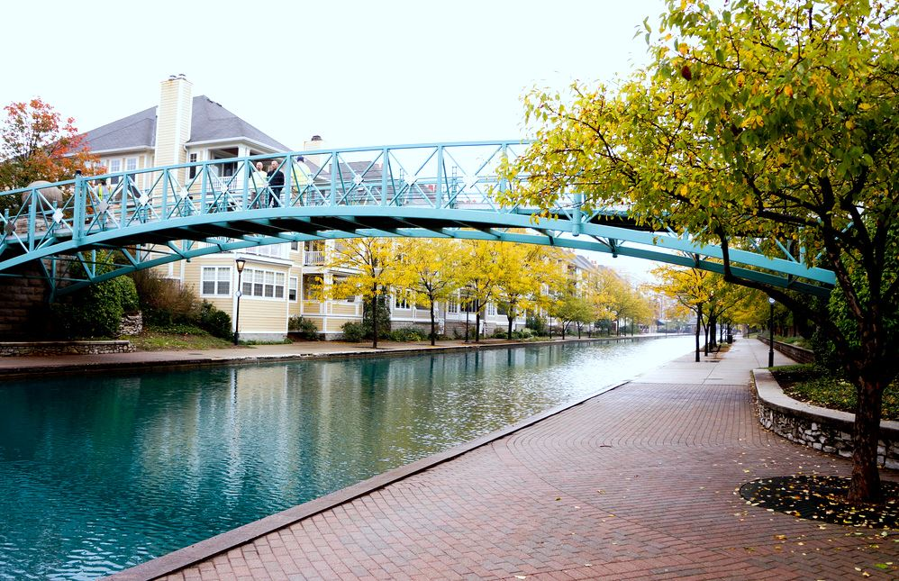 A bridge over the canal in Indy
