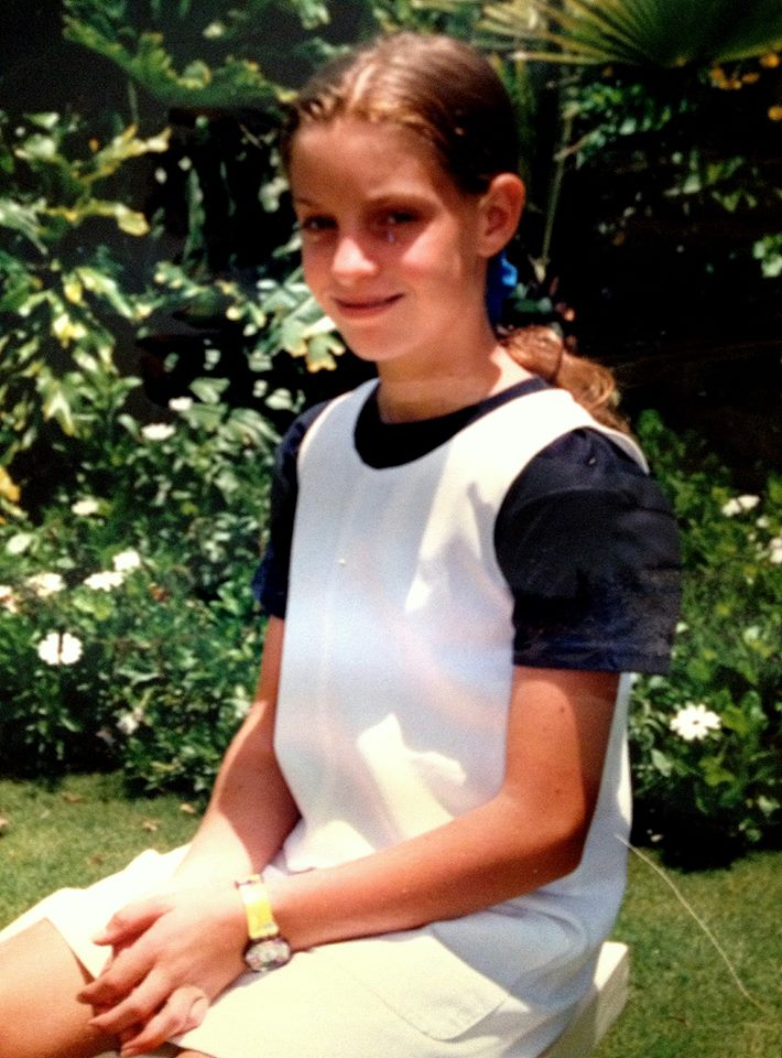 Young Nicola in our yard in Harare