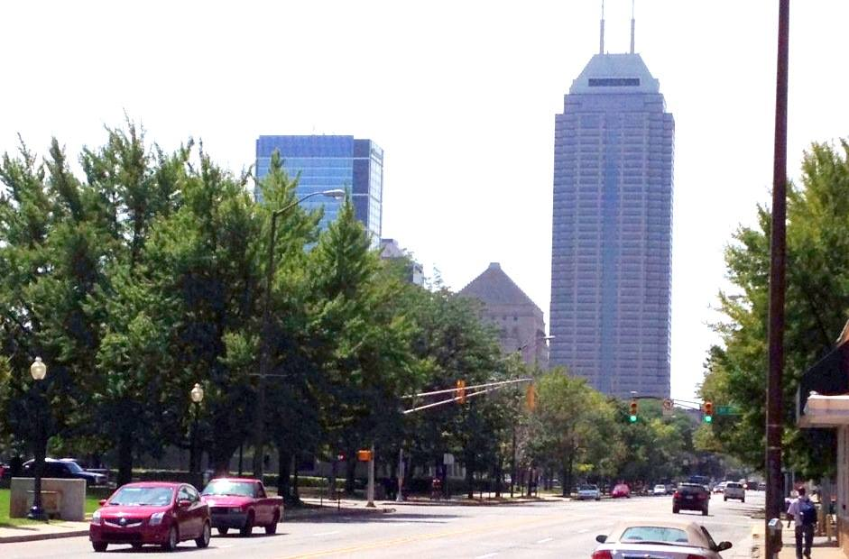Another view of skyscrapers in Indianapolis