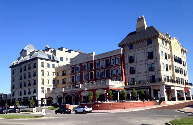 Another view of the city center in Carmel