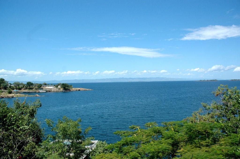 The vast expanse of water at Lake Kariba