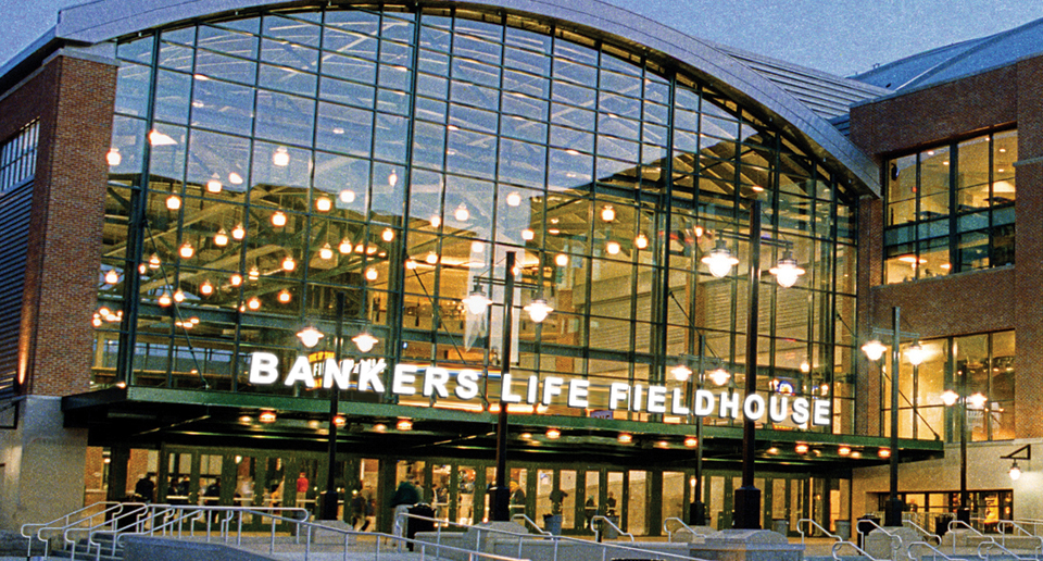 The Bankers Life Fieldhouse - the home of the Indiana Pacers NBA basketball team