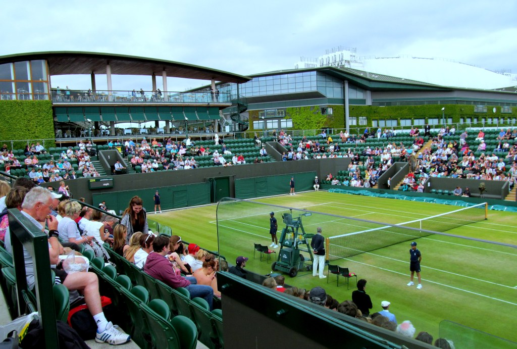 Court 3 with the Members Enclosure and Players' Gallery in the background