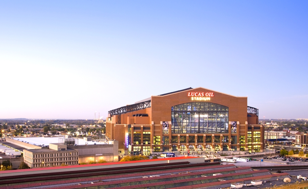 The Lucas Oil Stadium - the home of the Indianapolis Colts
