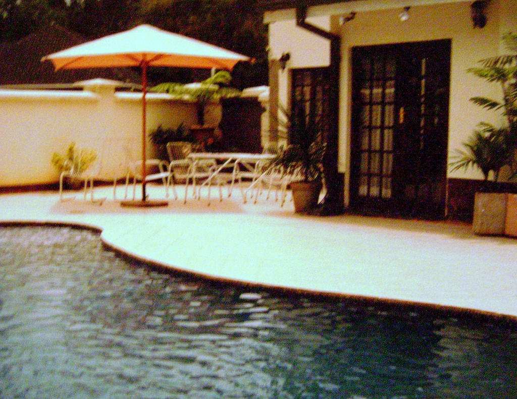 The pool at our home at Rugare Mews