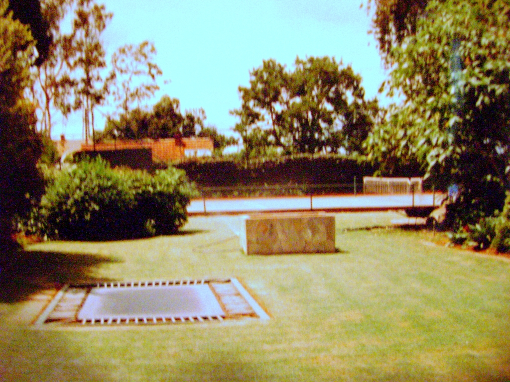 The garden and court at our home