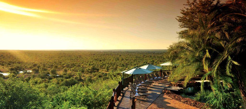 The view from the Victoria Falls Safari Lodge